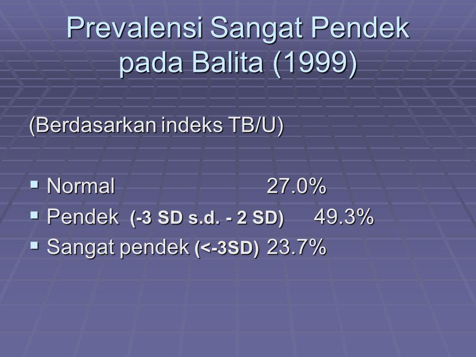 Prevalensi KEP Balita (2002) (Berdasarkan indeks BB/U)  Gizi Lebih 2.2%  Gizi Baik (normal)70.5%  Gizi Kurang19.3%  Gizi Buruk 8.0% Gizi Buruk Gizi Buruk