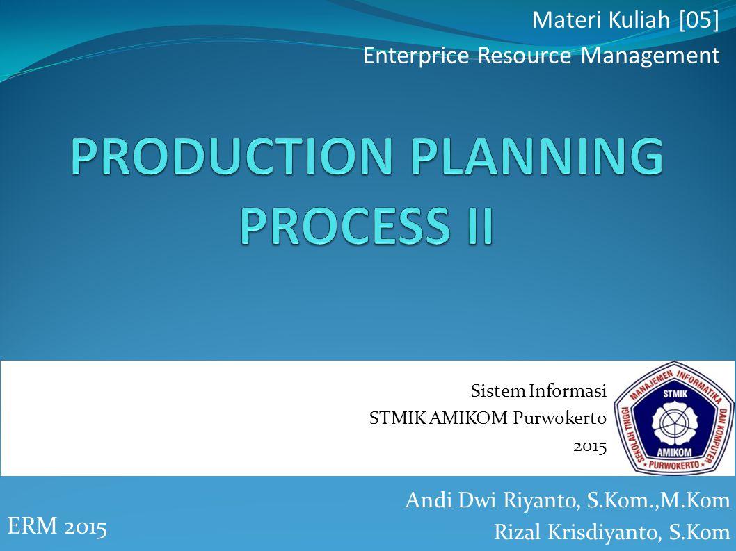 Production Planning pada SAP ERP