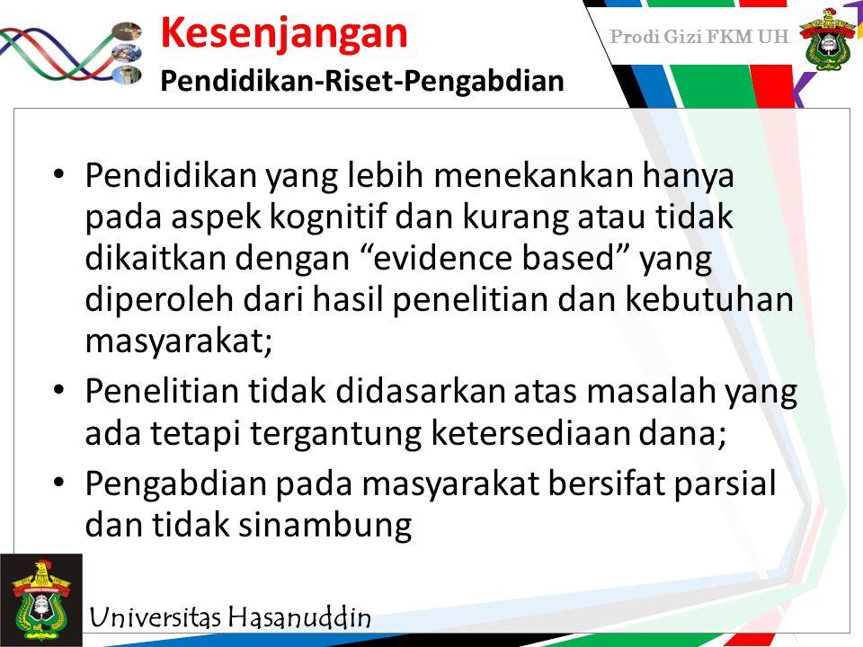 MENJEMBATANI KESENJANGAN dengan pendekatan GELOMBANG BARU KESMAS Universitas Hasanuddin