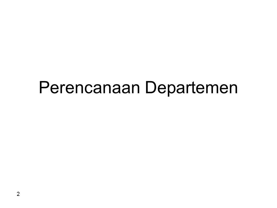 2 Perencanaan Departemen
