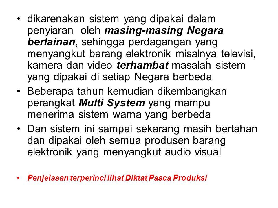 5.Kamera DV Cam / DVC Pro: 900 garis 6.