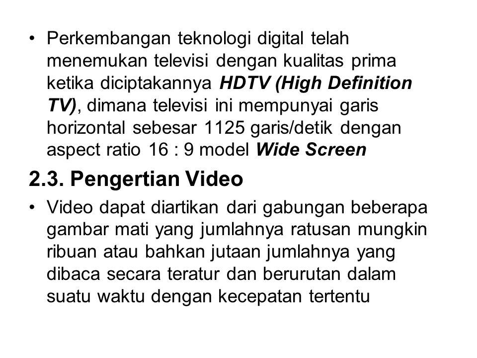 Perkembangan teknologi digital telah menemukan televisi dengan kualitas prima ketika diciptakannya HDTV (High Definition TV), dimana televisi ini memp