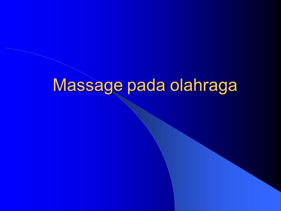 Massage pada olahraga