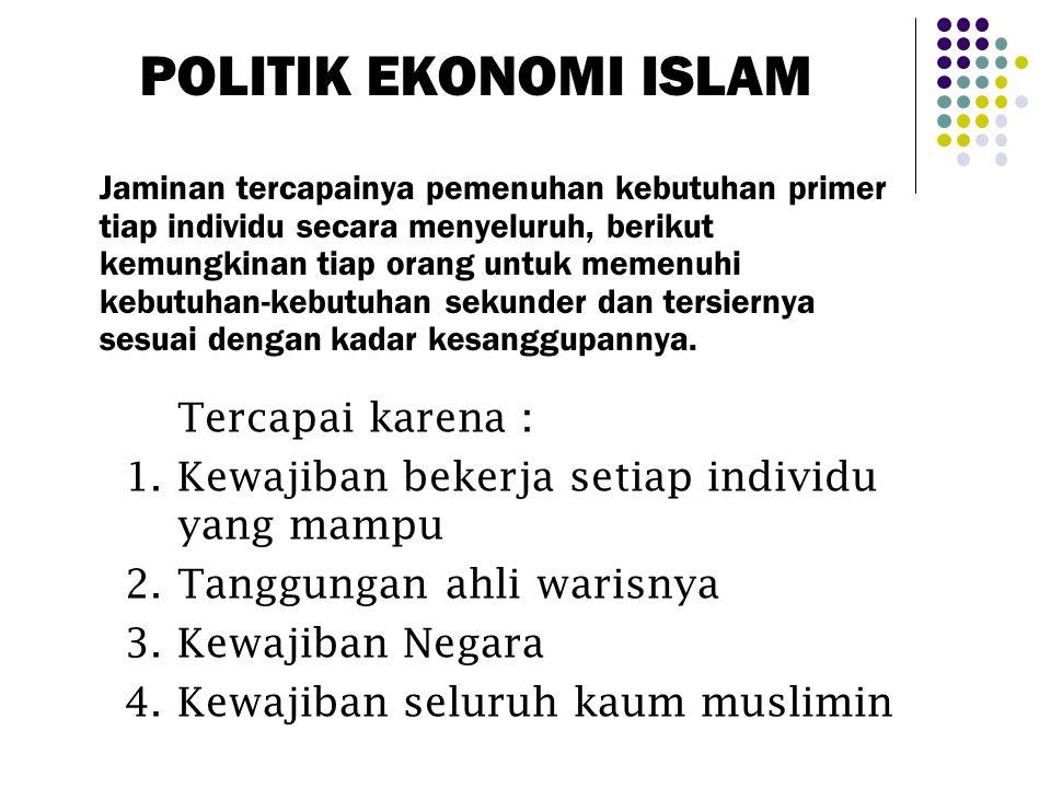 PANDANGAN ISLAM TENTANG EKONOMI Ilmu Ekonomi Sistem Ekonomi Islam Teknik/upaya mengadakan dan meningkatkan produktivitas Pengaturan cara kepemilikan,