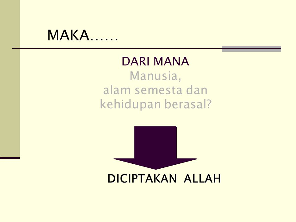MANA JAWABAN YANG BENAR? Yang benar adalah yang bersumber dari al-Qur'an Pemikiran spekulatif tidak berdasar. Nilainya bisa benar bisa salah Tapi bila