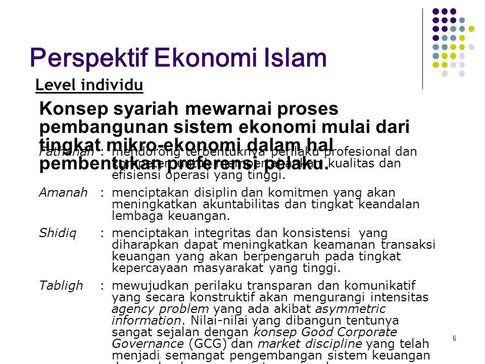 Kaidah umum dan universal, sesuai dengan universalitas islam dalam konsep ekonomi Islam adalah setiap pelaku ekonomi harus : a.