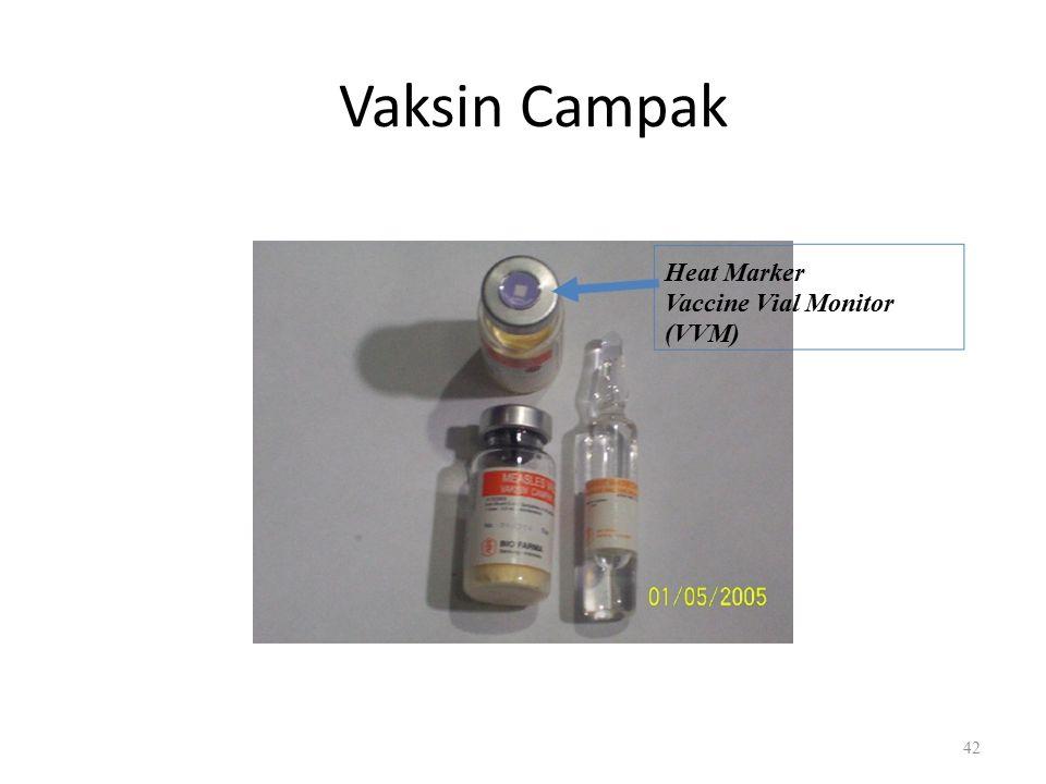 Vaksin Campak Heat Marker Vaccine Vial Monitor (VVM) 42