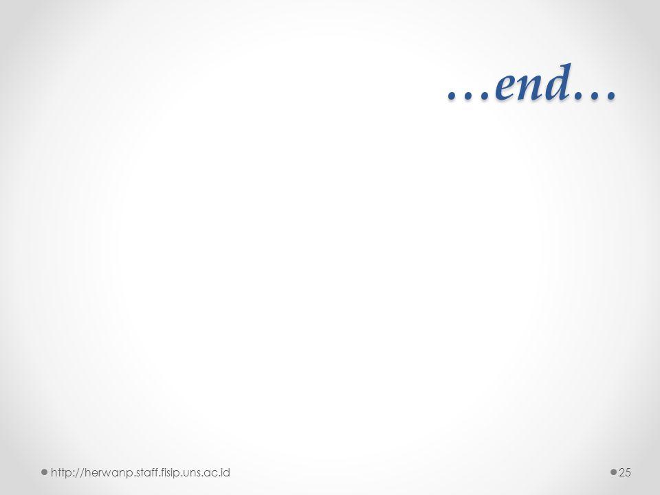 …end… http://herwanp.staff.fisip.uns.ac.id25