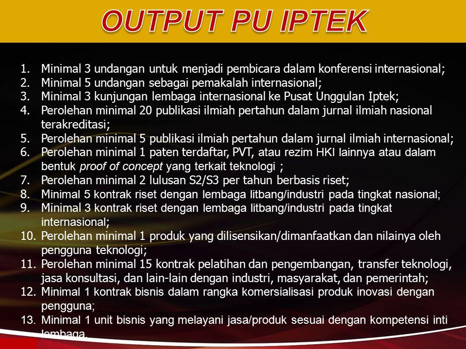 1.Minimal 3 undangan untuk menjadi pembicara dalam konferensi internasional; 2.Minimal 5 undangan sebagai pemakalah internasional; 3.Minimal 3 kunjung