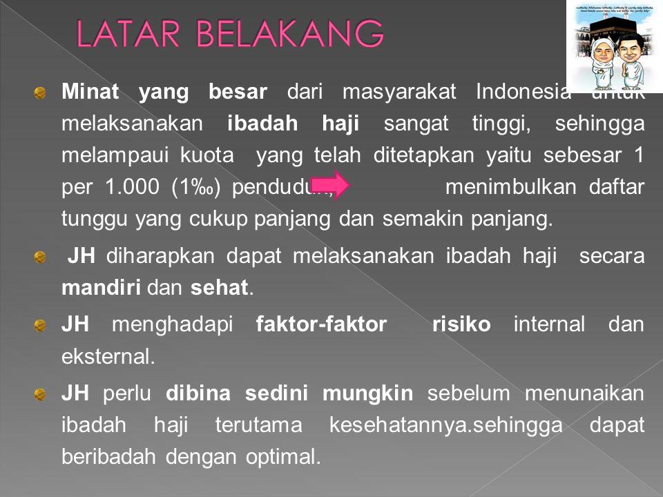 Minat yang besar dari masyarakat Indonesia untuk melaksanakan ibadah haji sangat tinggi, sehingga melampaui kuota yang telah ditetapkan yaitu sebesar 1 per 1.000 (1‰) penduduk, menimbulkan daftar tunggu yang cukup panjang dan semakin panjang.
