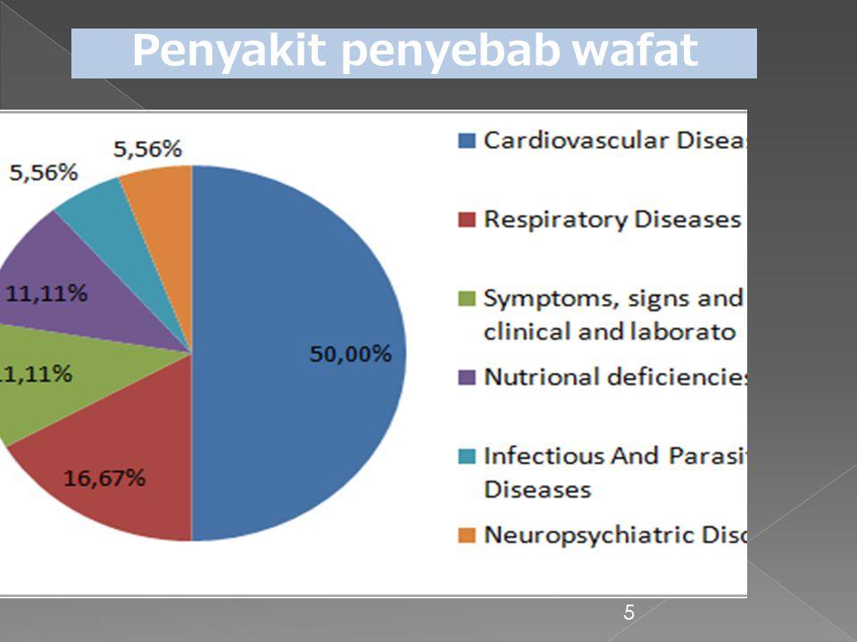 5 Penyakit penyebab wafat