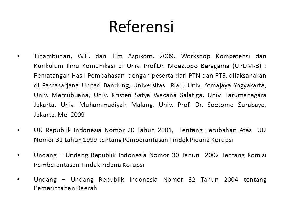 Referensi Tinambunan, W.E.dan Tim Aspikom. 2009.