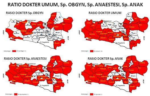 RASIO DOKTER UMUMRASIO DOKTER Sp. OBGYN RASIO DOKTER Sp. ANAESTESI RASIO DOKTER Sp. ANAK RATIO DOKTER UMUM, Sp. OBGYN, Sp. ANAESTESI, Sp. ANAK