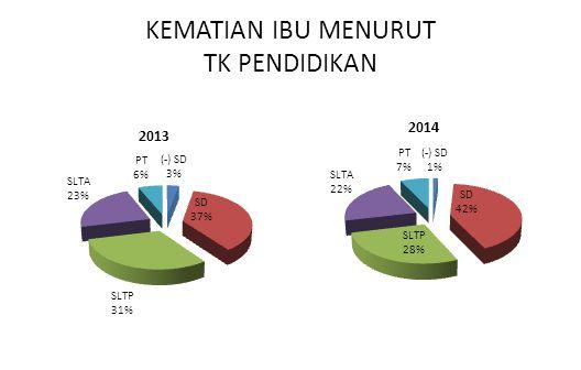 KEMATIAN IBU MENURUT TK PENDIDIKAN 2013 2014