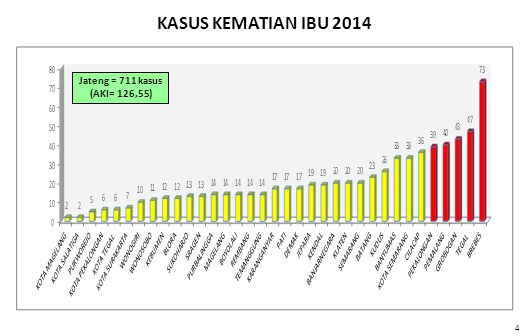 4 Jateng = 711 kasus (AKI= 126,55) KASUS KEMATIAN IBU 2014