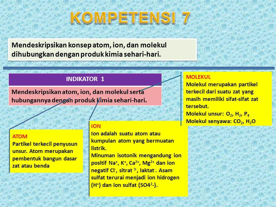 Memahami klasifikasi zat serta perubahannya.