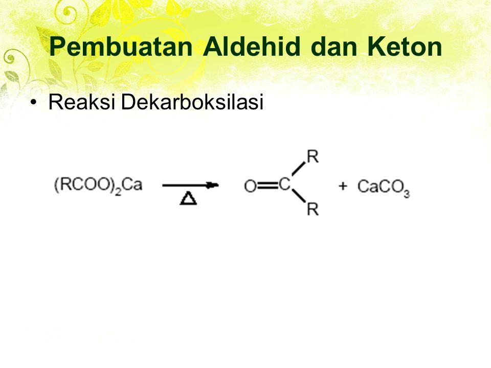 Reaksi Dekarboksilasi Pembuatan Aldehid dan Keton