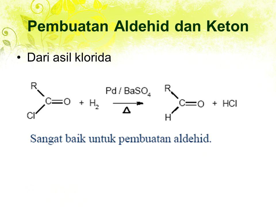 Dari asil klorida Pembuatan Aldehid dan Keton