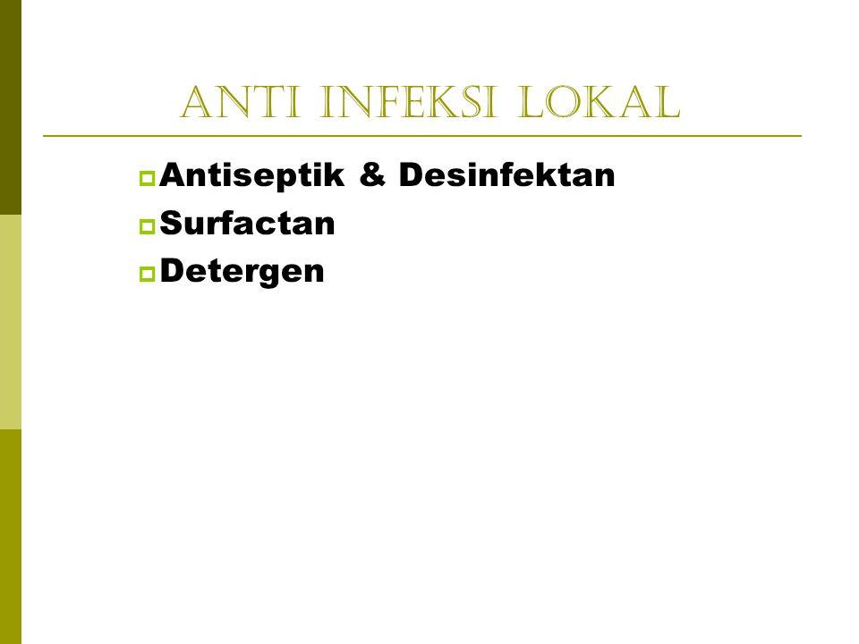 Anti Infeksi Lokal  Antiseptik & Desinfektan  Surfactan  Detergen