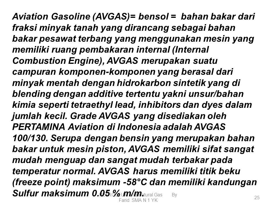 PETROLEUM and Natural Gas By Farid SMA N 1 YK 24 LPG  gas CH 4 s/d C 4 H 10 dalam ruang diberi tekanan tinggi sehingga berubah fasanya menjadi cair.
