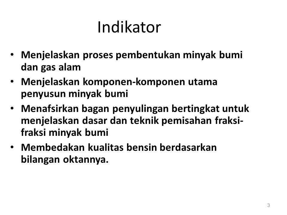 2 KompetensiKompetensi dasar indikator Pembentukan minyak bumi dan gas alam Komponen utamautama PengolahanPengolahan minyak bumi Bensin