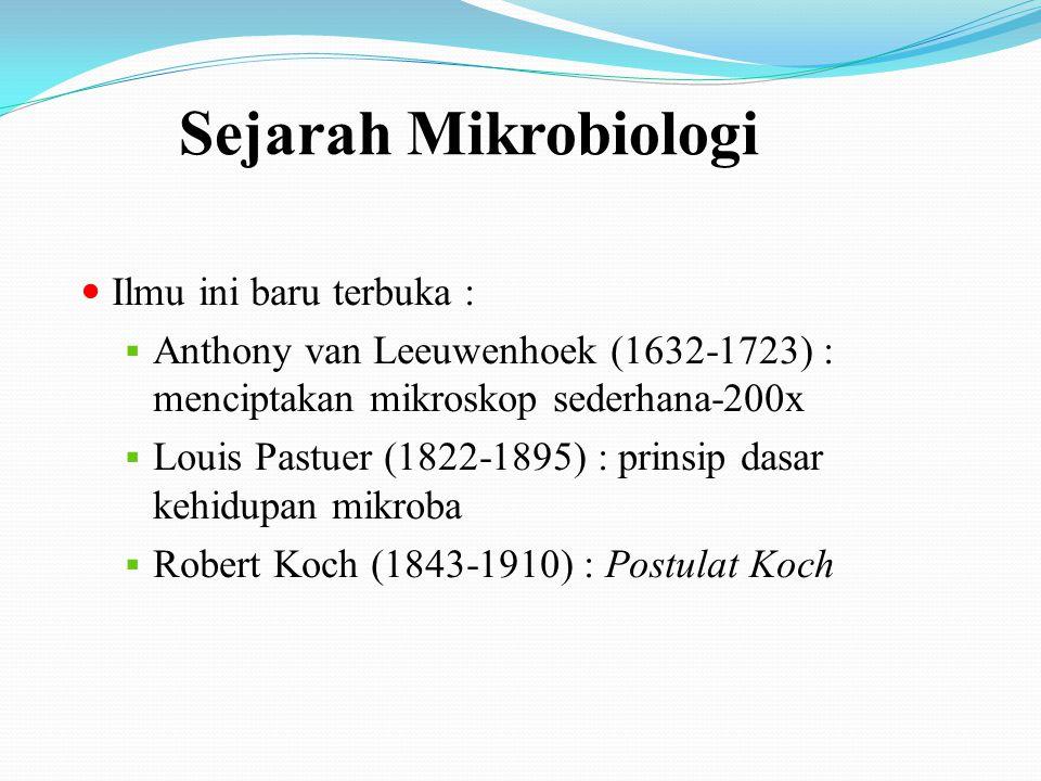 Mikroba dan Penyakit (pada manusia)