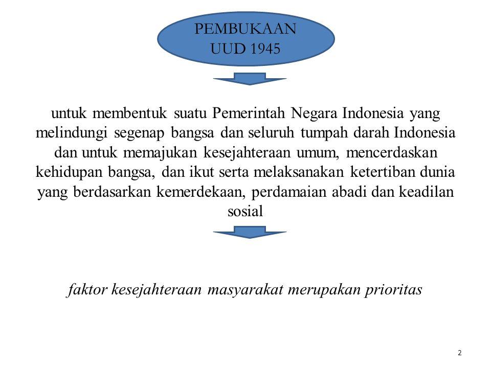 2 PEMBUKAAN UUD 1945 untuk membentuk suatu Pemerintah Negara Indonesia yang melindungi segenap bangsa dan seluruh tumpah darah Indonesia dan untuk mem