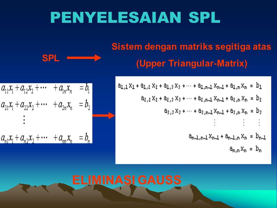 Penyelesaian SPL (Dekomposisi Doolittle) Menggunakan Sistem Segitiga Atas & Bawah = OBE