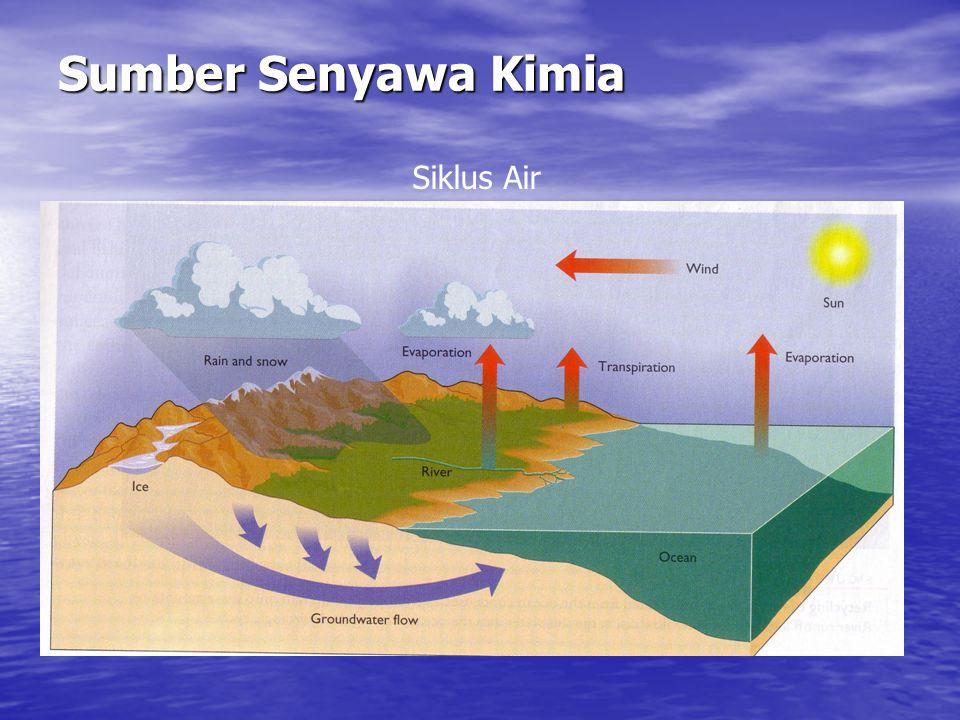 Nitrogen di Laut Senyawa nitrogen di laut sangat terbatas (~ 1/10 konsentrasi N 2 ) Senyawa nitrogen di laut sangat terbatas (~ 1/10 konsentrasi N 2 ) Bentuk : terlarut dan partikel (organik dan anorganik) Bentuk : terlarut dan partikel (organik dan anorganik) Sumber nitrogen: aktifitas gunung api (NH 3 ); udara (fixasi N 2 ); sungai (pupuk) Sumber nitrogen: aktifitas gunung api (NH 3 ); udara (fixasi N 2 ); sungai (pupuk)