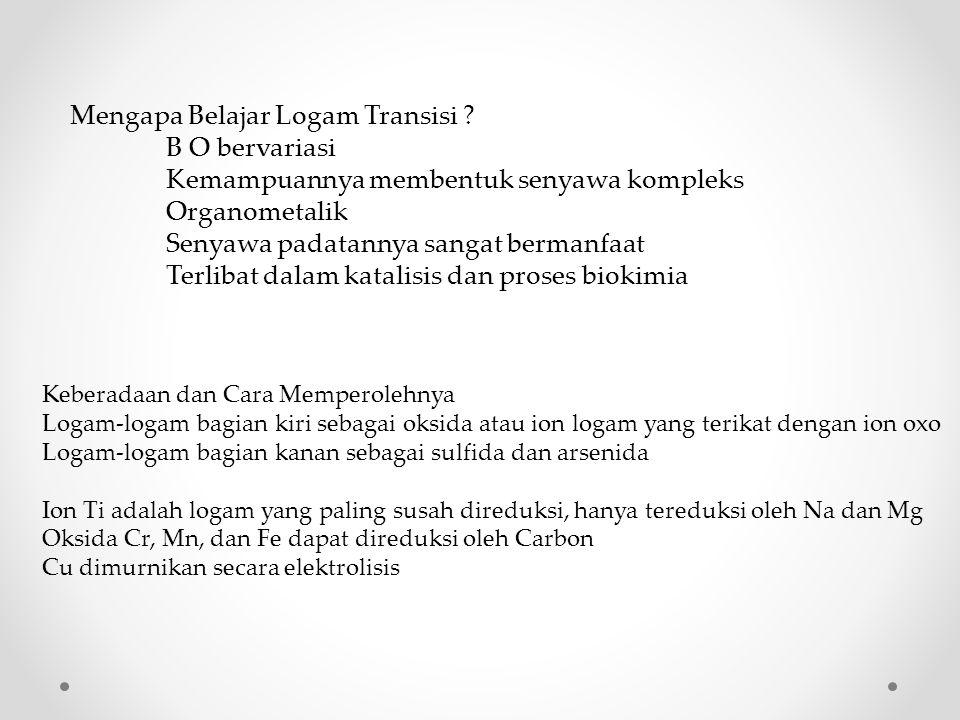 Jadi ada 56 unsur-unsur transisi.