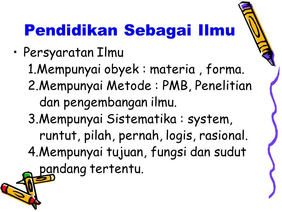 Batas-batas Pendidikan (Persoalan kapan = when) Awal 1. Bibit, bobot dan bebet 2. Prenatal opvvouding (sebelum lahir) 3. Setelah dilahirkan 4. Setelah