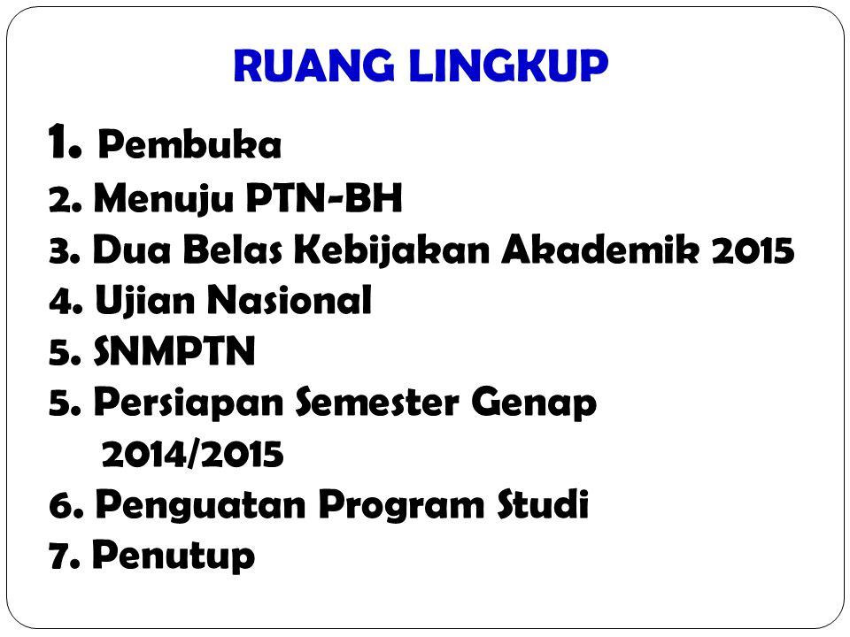 PEMBUKA Bidang akademik merupakan ruh Univ.Negeri Semarang.