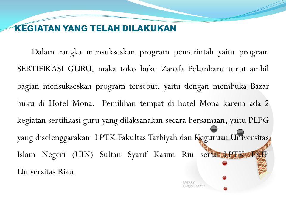 Tujuan Bazar dibuka untuk membantu guru yang mengikuti PLPG dalam memperoleh materi- materi pendukung kegiatan PLPG (Program Latihan Profesi Guru).