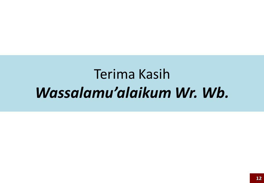 Terima Kasih Wassalamu'alaikum Wr. Wb. 12