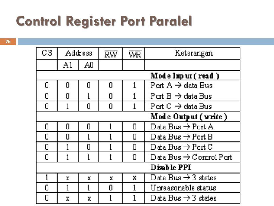 Control Register Port Paralel 25