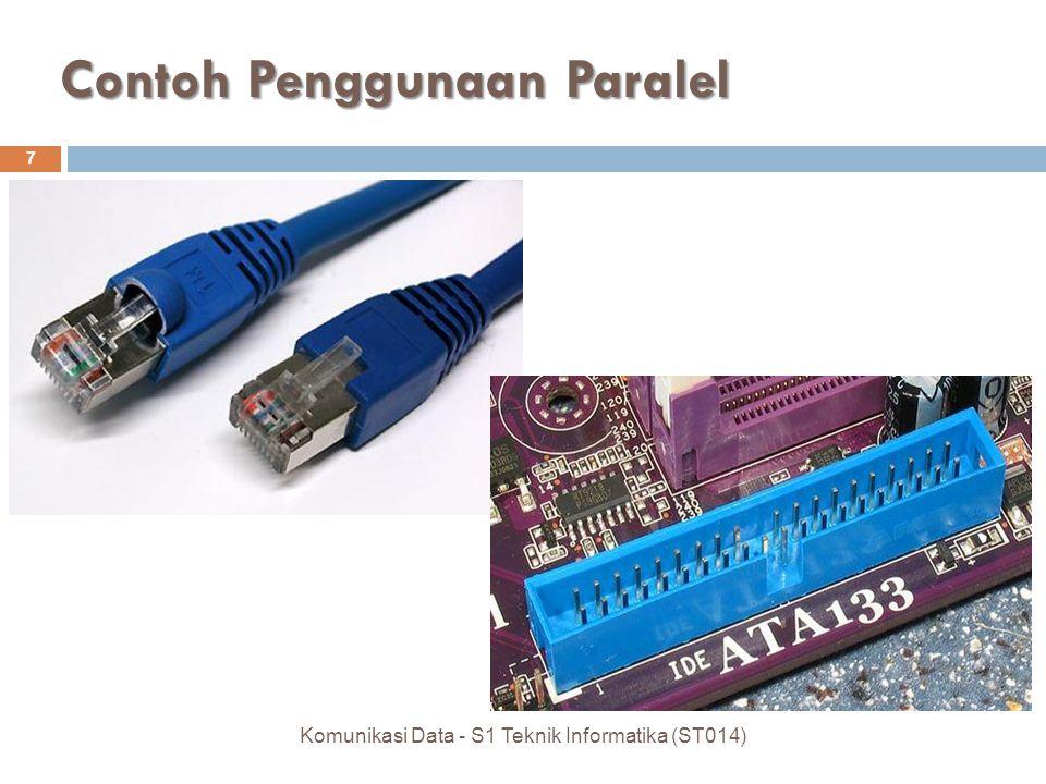 Contoh Penggunaan Paralel 7 Komunikasi Data - S1 Teknik Informatika (ST014)