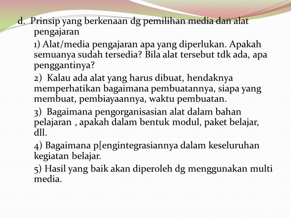 4.Prinsip yang berkaitan dengan penilaian a.