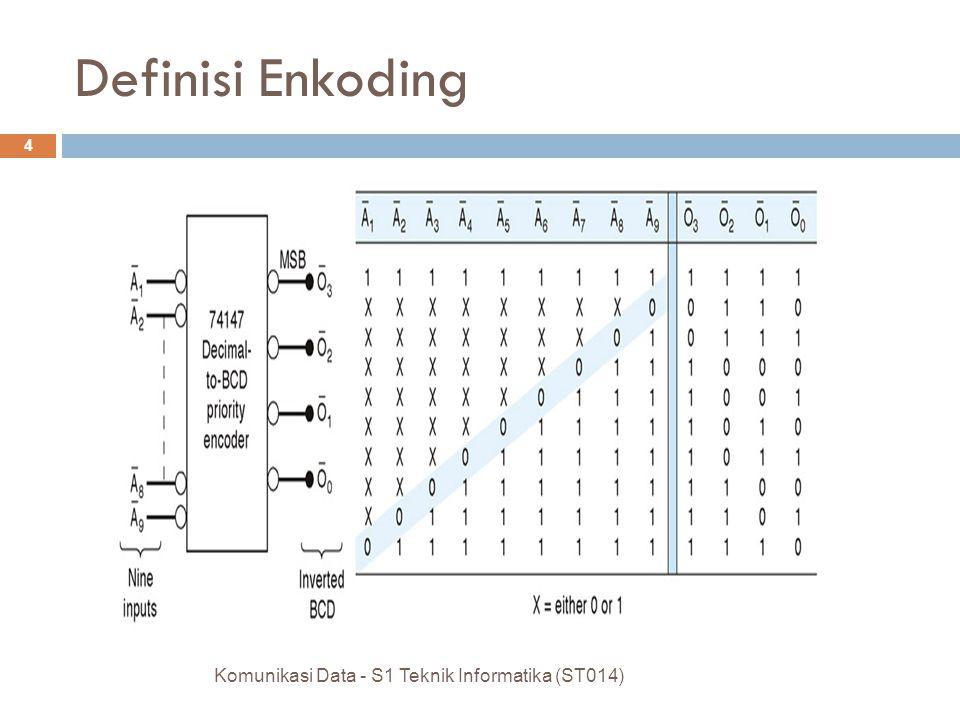 Definisi Enkoding Komunikasi Data - S1 Teknik Informatika (ST014) 4