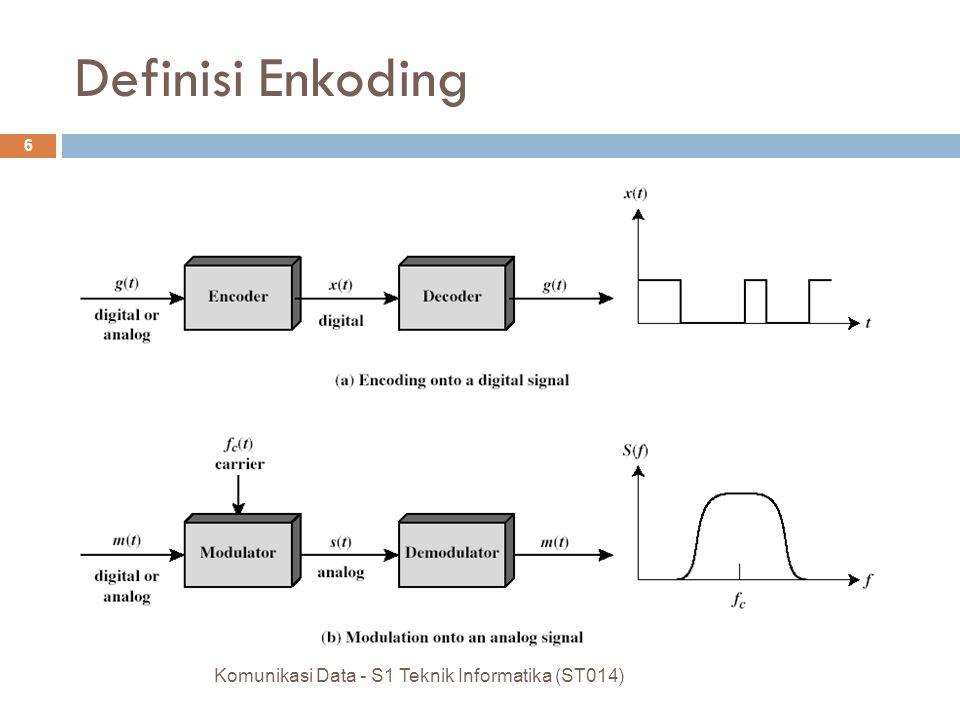 Definisi Enkoding Komunikasi Data - S1 Teknik Informatika (ST014) 6