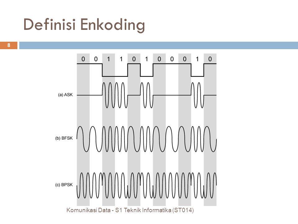 Komunikasi Data - S1 Teknik Informatika (ST014) 8 Definisi Enkoding