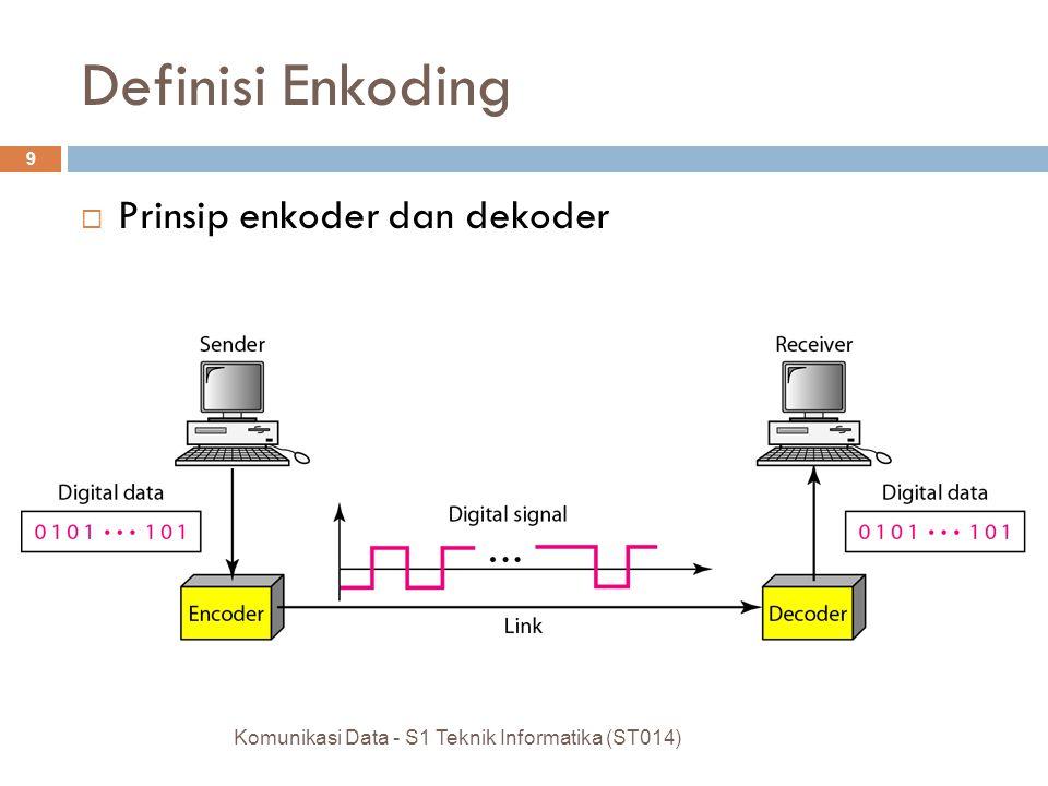  Prinsip enkoder dan dekoder Komunikasi Data - S1 Teknik Informatika (ST014) 9