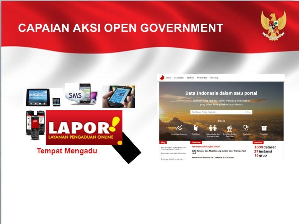 CAPAIAN AKSI OPEN GOVERNMENT Tempat Mengadu