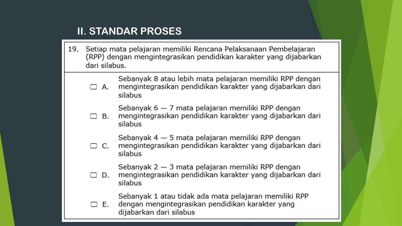 II. STANDAR PROSES 18
