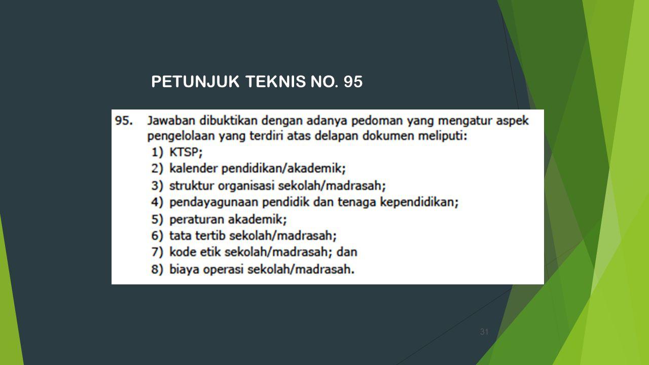 PETUNJUK TEKNIS NO. 95 31