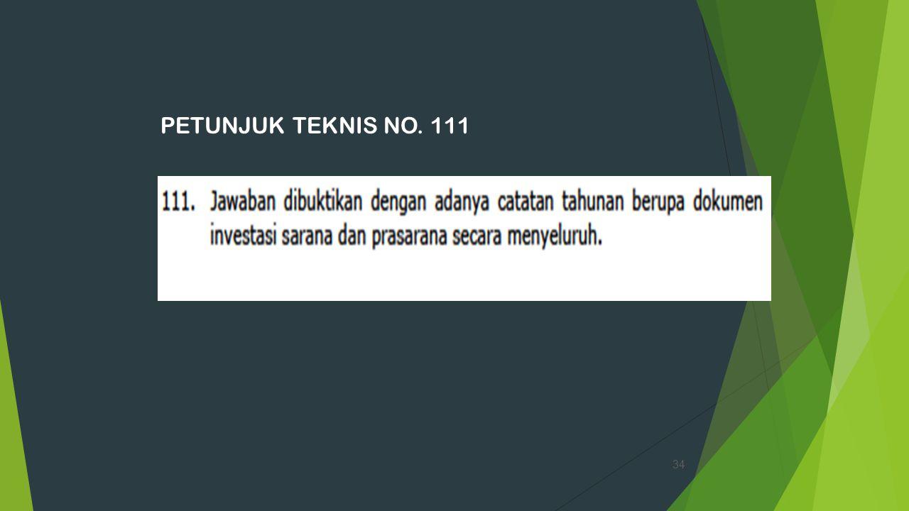 PETUNJUK TEKNIS NO. 111 34
