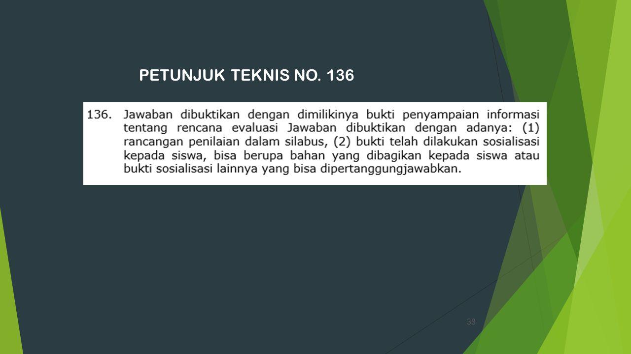 PETUNJUK TEKNIS NO. 136 38