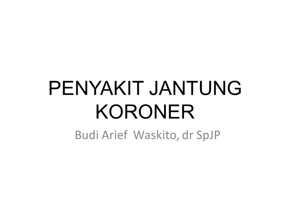 PENYAKIT JANTUNG KORONER Budi Arief Waskito, dr SpJP