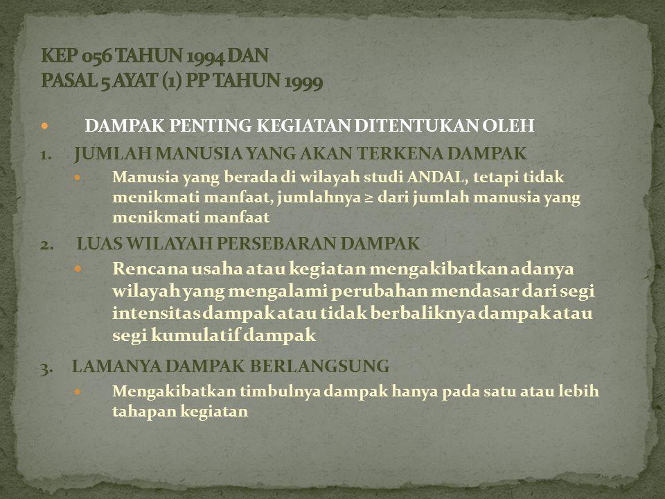 DAMPAK PENTING KEGIATAN DITENTUKAN OLEH 1.