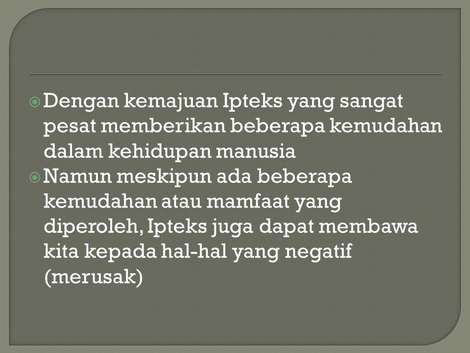 1.Perubahan pada bidang intelektual 2.