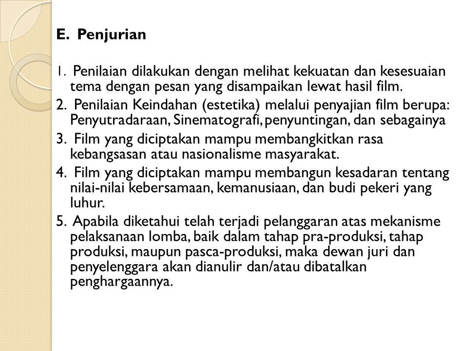 E.Penjurian 1.